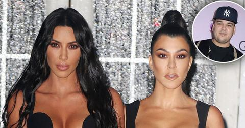 Kim Kardashian Jokes Kourtney Got A Hickey From Their Brother Rob