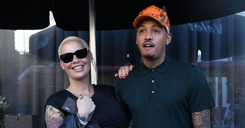 Amber Rose And Alexander 'AE' Edwards Waiting For Their Car