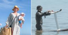 katy perry orlando bloom on beach with baby daisy dove