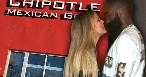 Khloe kardashian james harden chipotle date houston