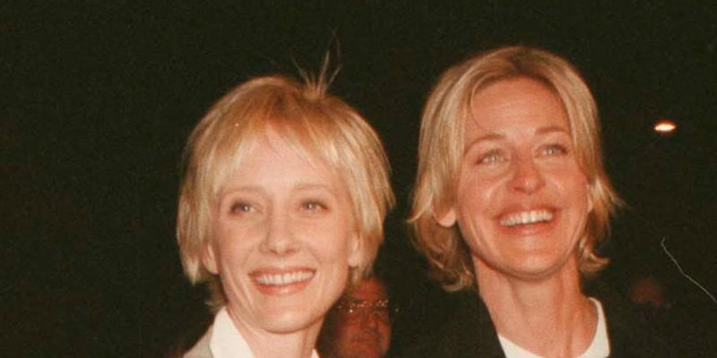 Anne Heche Smiling With Ellen DeGeneres