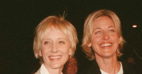 Anne Heche Smiling With Ellen DeGeneres