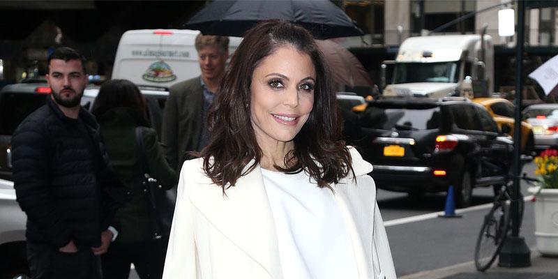 Bethenny Frankel On The Street In White Dress