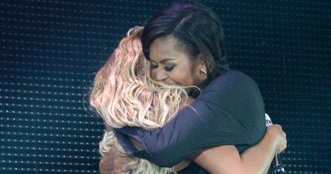 Michelle obama dancing beyonce jay z concert hero