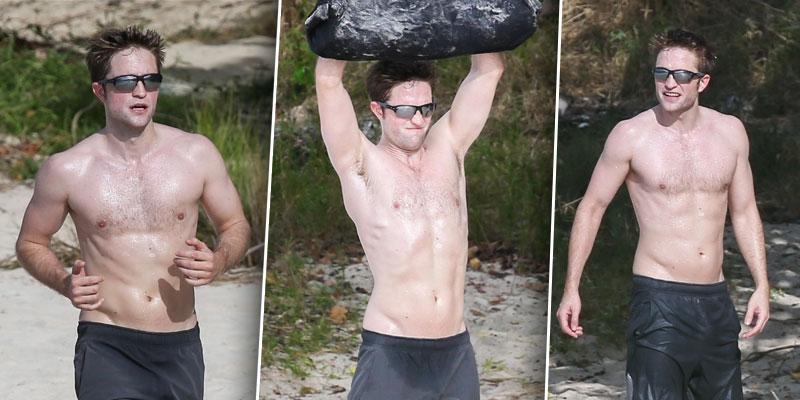 Robert pattinson working out beach muscles body shirtless ok pp