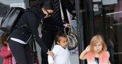 EXCLUSIVE: Kourtney Kardashian takes Penelope and North to ballet class