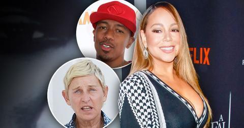 Mariah Carey, Inset Nick Cannon, Inset Ellen DeGeneres