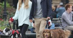 Amanda Seyfried & Justin Long Walk Their Dogs