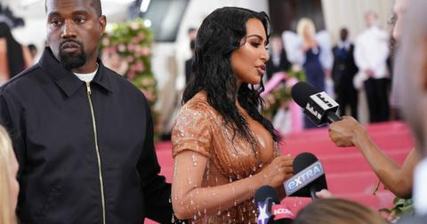 Kim Kardashian and Kanye west at the Costume Institute Benefit celebrating the opening of Camp: Notes on Fashion, Arrivals, The Metropolitan Museum of Art