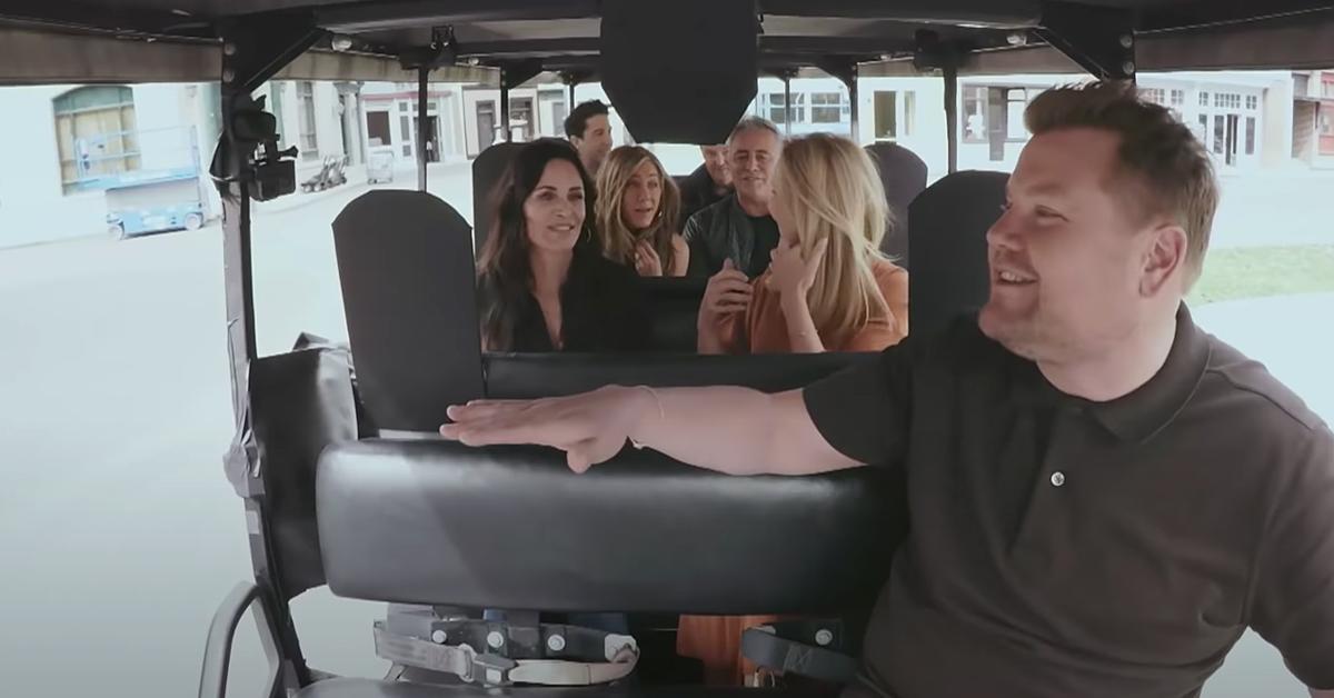 friends cast join james corden for carpool karaoke segment