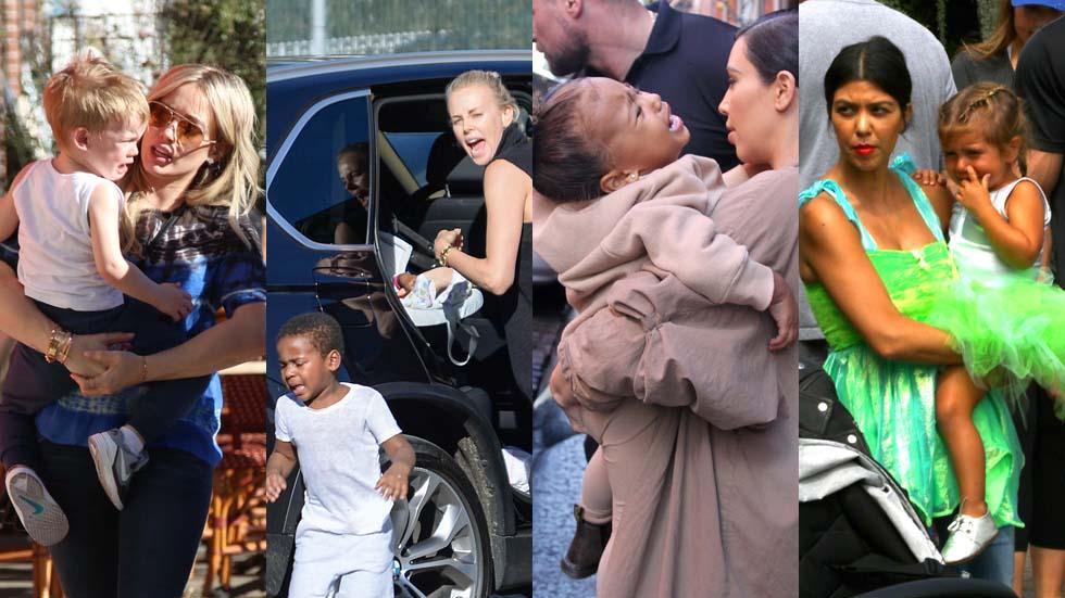 Celebrity kids meltdown temper tantrum bratty children stars 01