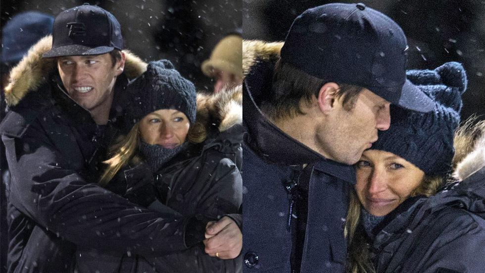 Gisele tom brady pda kissing divorce hockey 01