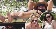Kris jenner bikini beach dakota johnson melanie griffith