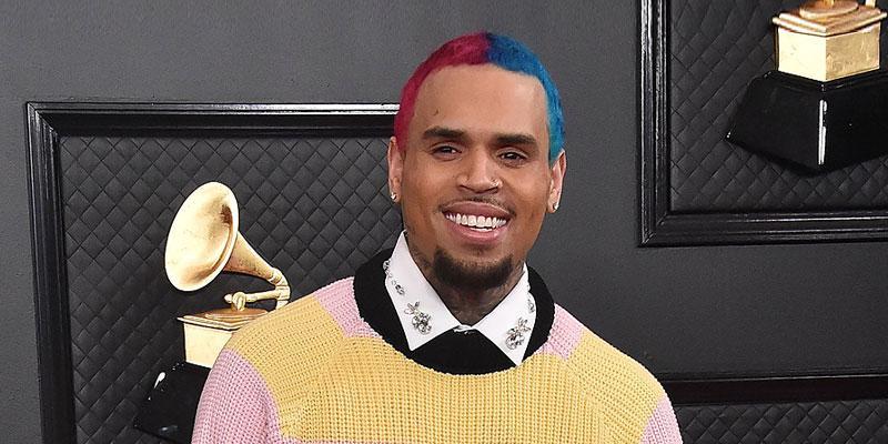 Singer Chris Brown at the 2020 Grammy awards