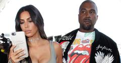 Kim Kardashian and Kanye West at the Los Angeles International Airport
