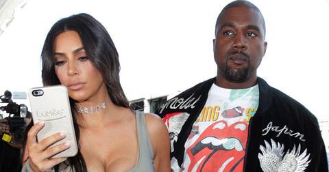 Kim Kardashian and Kanye West at the Los Angeles International Airport