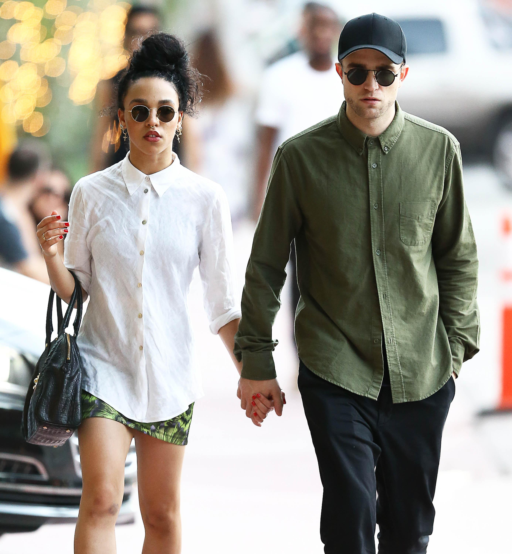 Exclusive… Robert Pattinson & FKA Twigs Walk Hand In Hand In Miami  – ADD WEB FEES