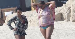*EXCLUSIVE* Queen Latifah enjoys a beach getaway in Cabo San Lucas