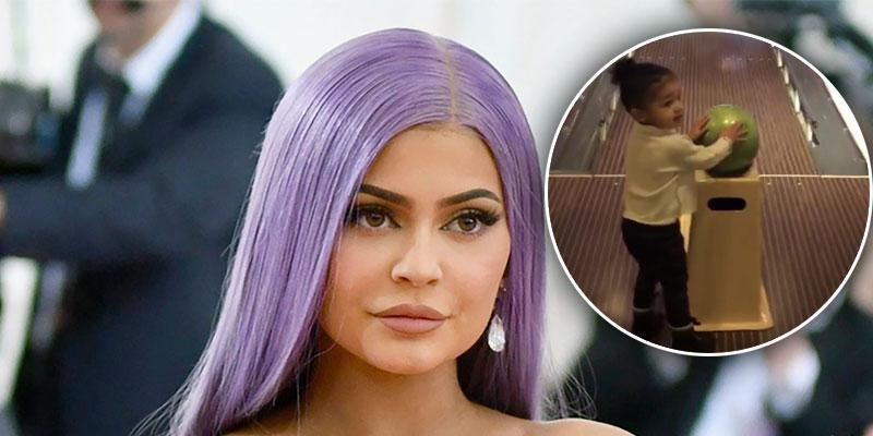 Kylie Jenner Shares Video Of Daughter Stormi Bowling