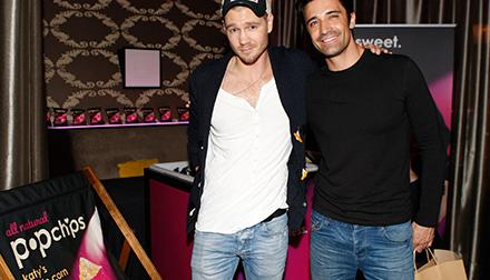 Chad michael murrary and gilles marini at popchips at lakers casino night presented by onewest bank and pechanga resort casino.jpg
