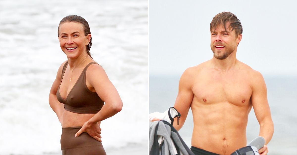 derek hough and julianne hough are spotted hanging out in venice beach ok