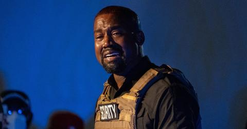 Kanye West Wearing Security Vest and Crying