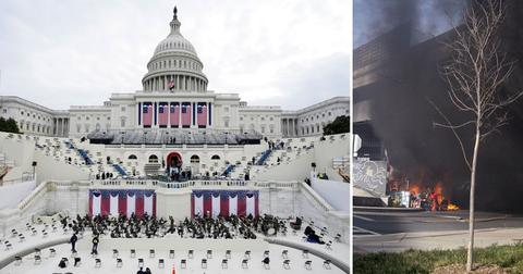 fire causes capitol lockdown inauguration rehearsal washington dc pf
