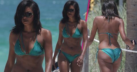 real housewives of atlanta claudia jordan sexy bikini photos