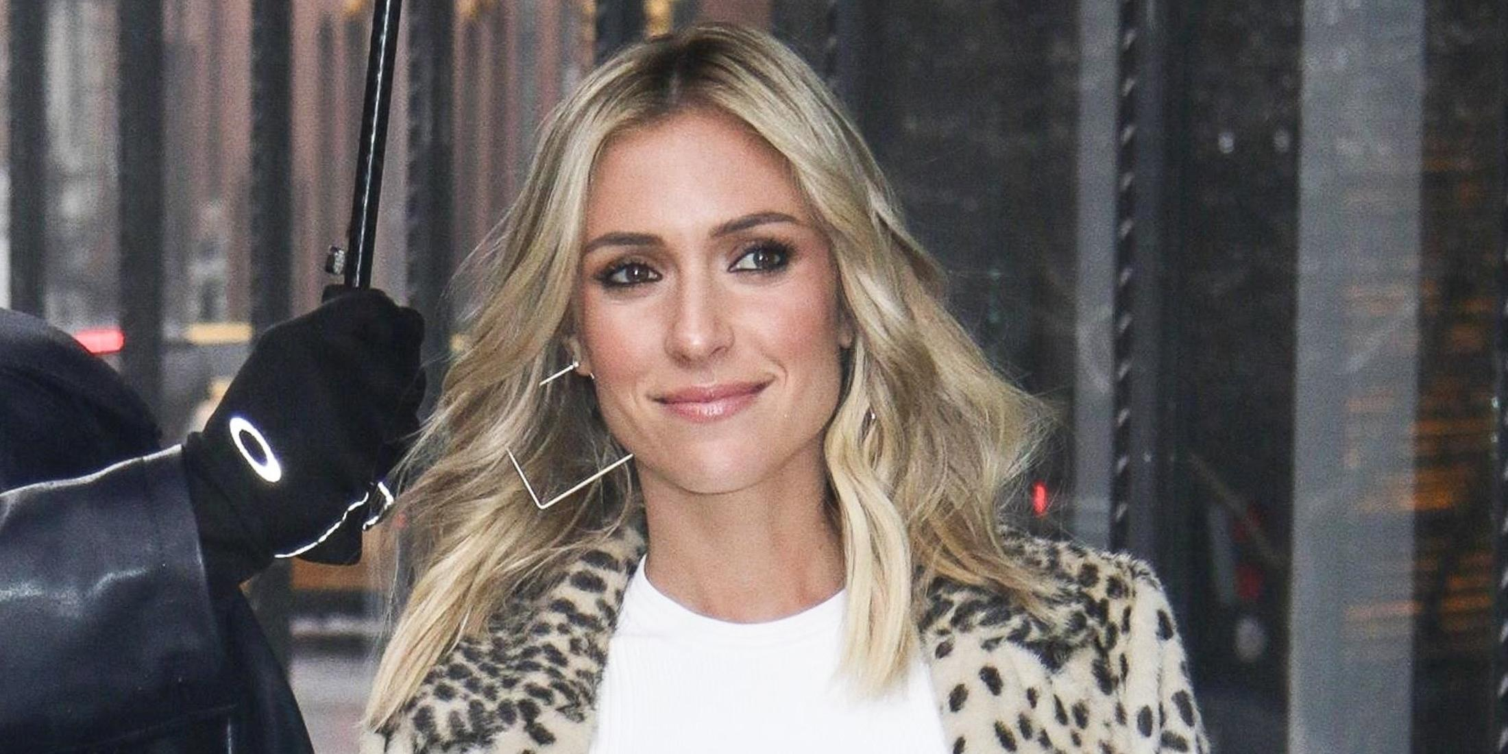 Kristin Cavallari keeps warm at AOL Build Series