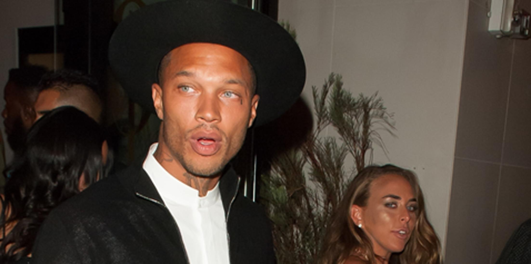 'Hot Felon' Model Jeremy Meeks and Chloe Green keep it fashionable in all black