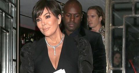 Kris jenner shows off cleavage on date with boyfriend corey gamble