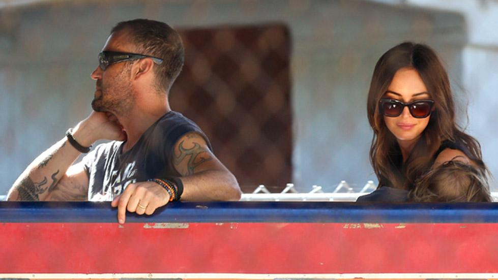 *EXCLUSIVE* Megan Fox and Brian Austin Green enjoy a Tchu Tchu Train ride with their kids