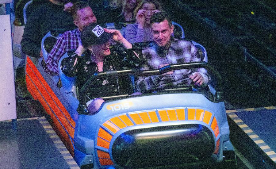Pink carey hart date night disneyland