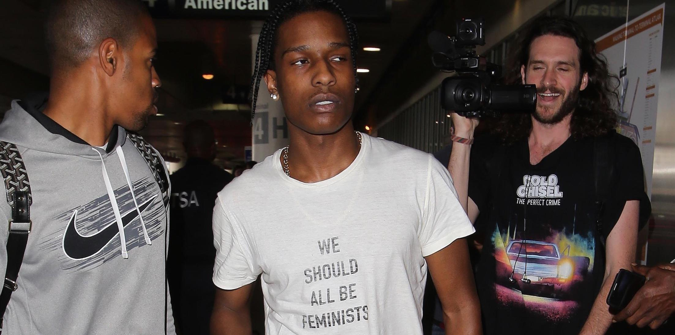 A$AP Rocky wearing Kendall Jenner's Feminist Tee?
