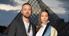 Justin Timberlake And Jessica Biel At Paris Fashion Week