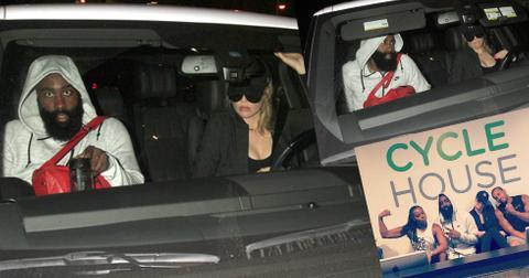 Khloe kardashian james harden spin class 01