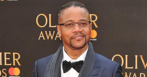 Cuba Gooding Jr. Wearing a Suit on A Red Carpet