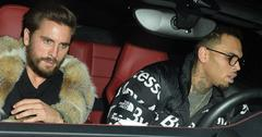 Scott Disick and Chris Brown Leave The Nice Guy in West Hollywood