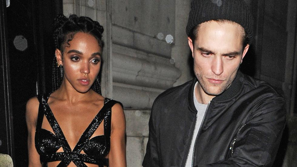 Robert Pattinson and FKA twigs leave the Warner Music Party – Part 2 **USA ONLY**