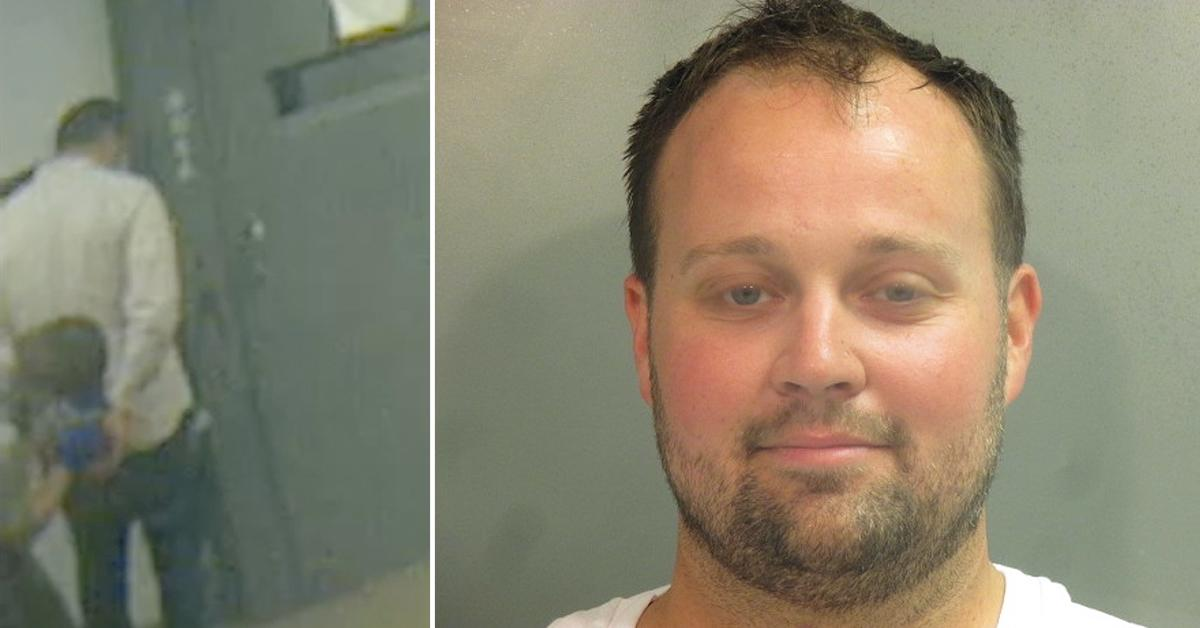 josh duggar being booked into arkansas jail