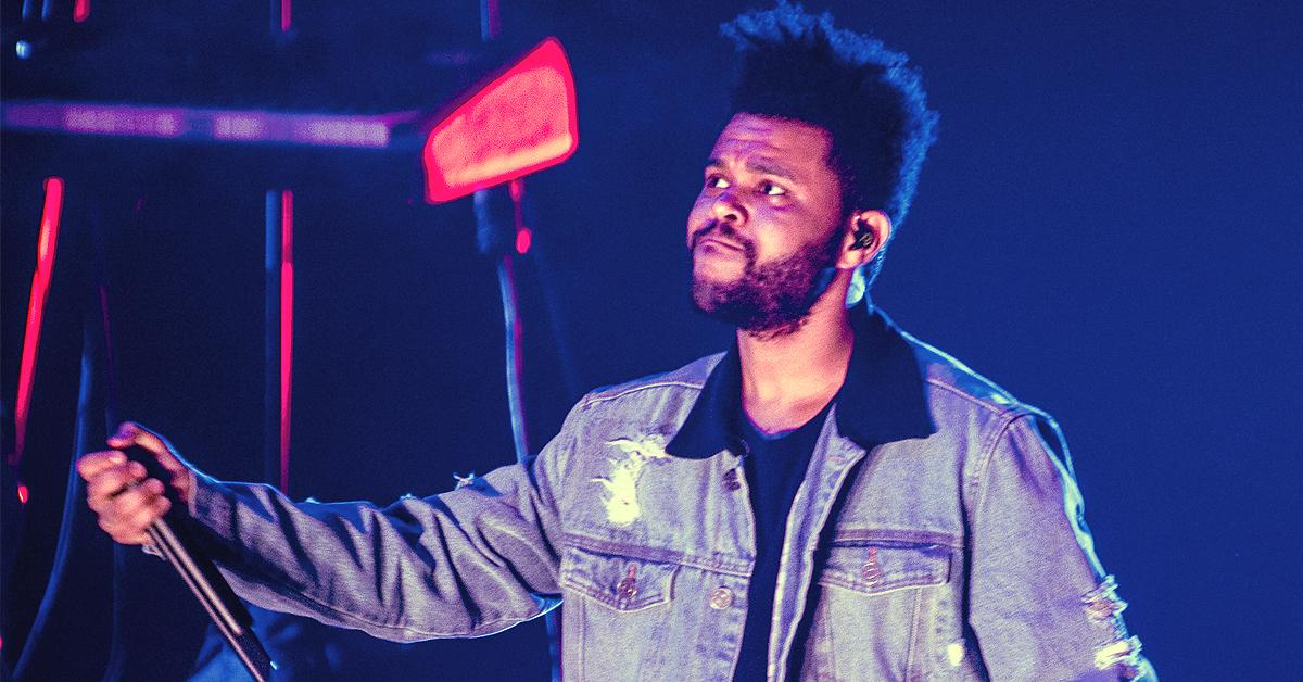 the weeknd super bowl lv halftime show stands tampa florida pf