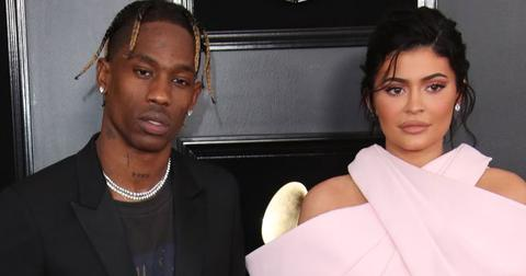 Kylie Jenner And Travis Scott Pose On Red Carpet
