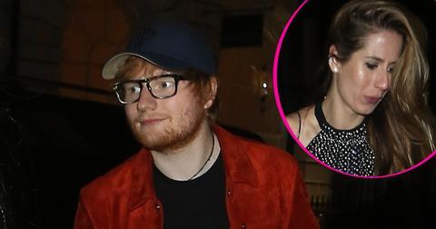 Ed sheeran wears engagement ring fiance made