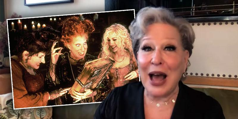 Bette Midler Spills Details About 'Hocus Pocus' Reunion — Watch