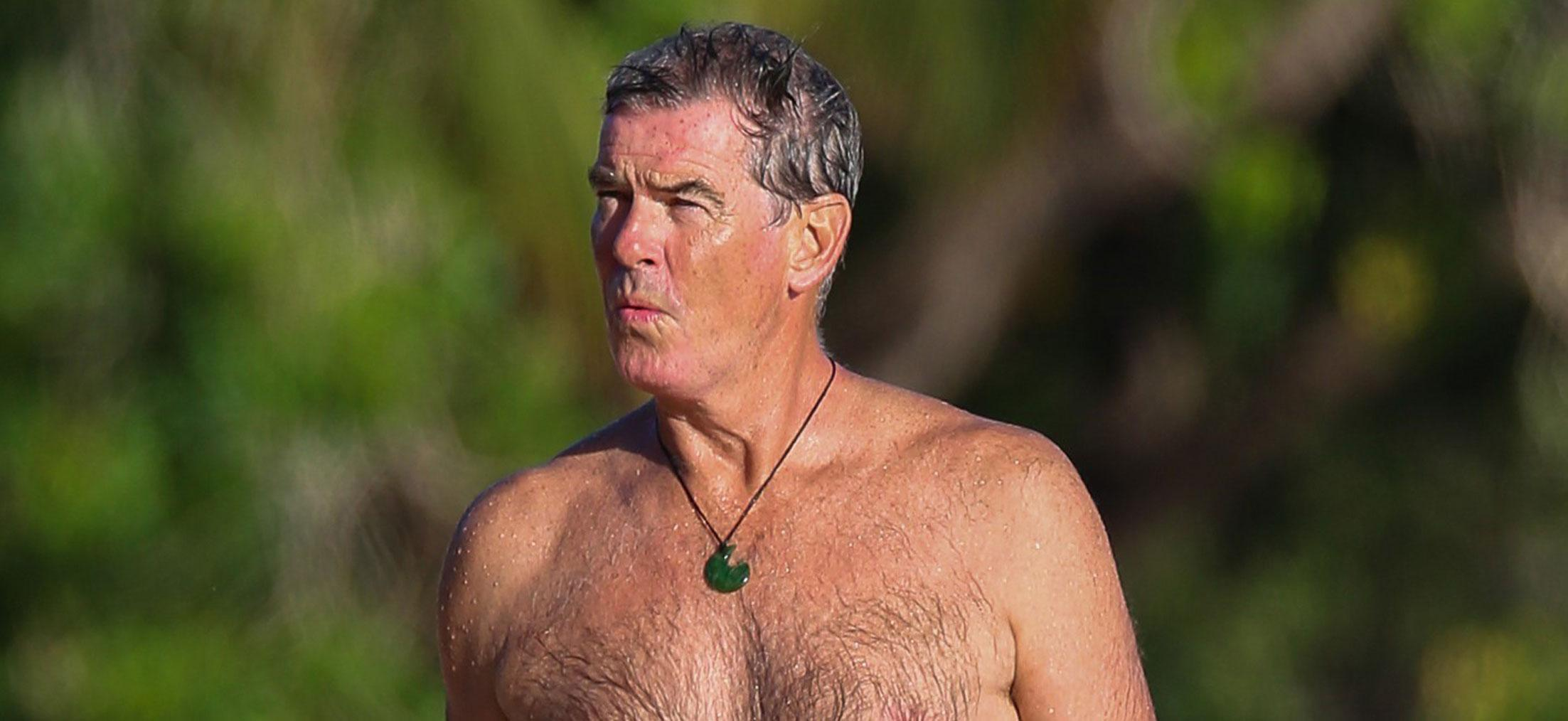 Pierce Brosnan Shirtless