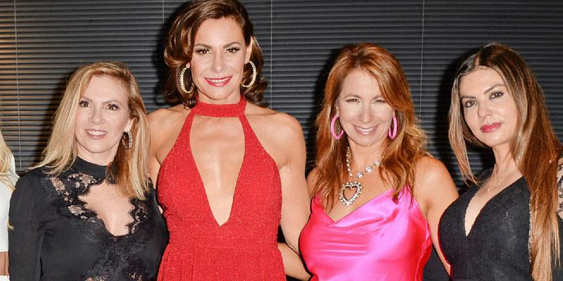 Ramona Singer, Luann de Lesseps, Jill Zarin and Adriana de Moura at Luann's miami show