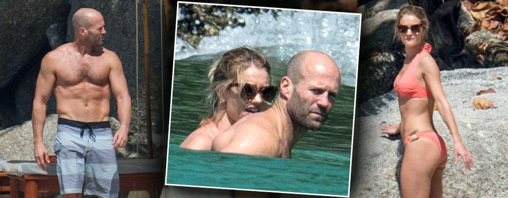 Rosie huntington whiteley bikini jason statham shirtless beach thailand