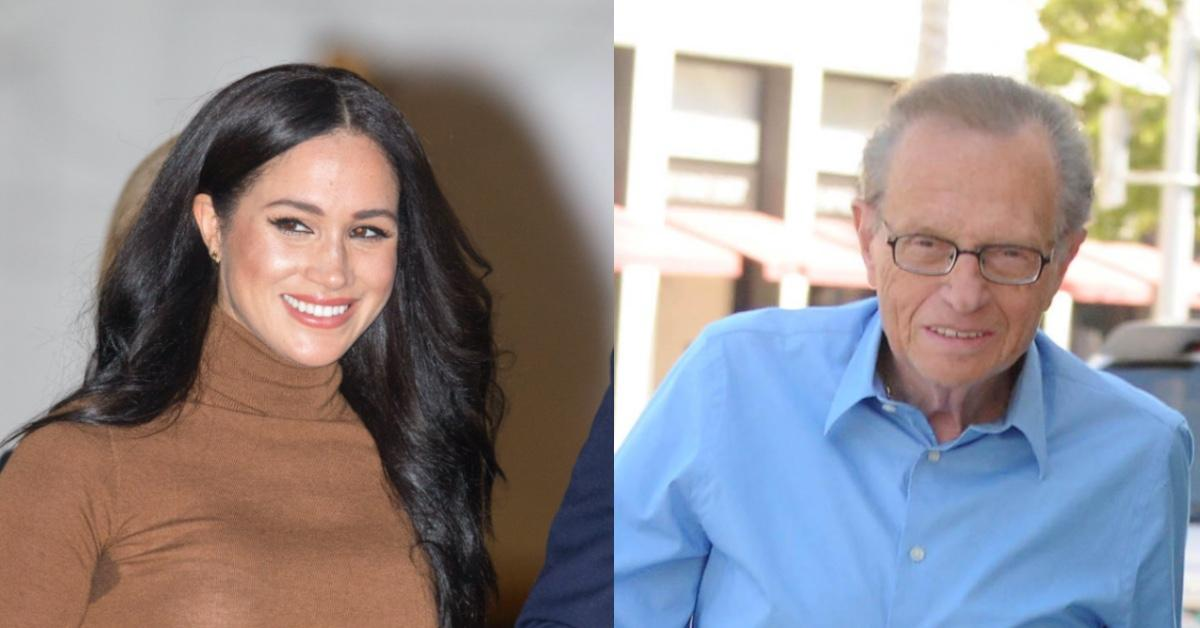 Unearthed: The Late Larry King Interviews Meghan Markle Before Her Duchess Days To Discuss Feminism — Watch