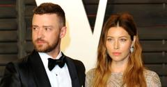 Justin Timberlake and Jessica Biel arrive at the Vanity Fair Oscar Party