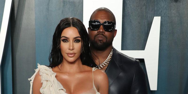 Kim Kardashian And Kanye West On Red Carpet